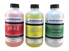 Buffer Calibration Kit 3-pack 8 oz (250 mL) pH 4.0, pH 7.0 and Electrode Storage