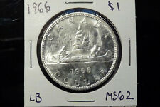 1966 Canada silver one dollar $1 - MS62
