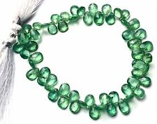 """Very Rare Gem Natural Nepal Green Kyanite Faceted Pear Shape Briolette Beads 8"""""""