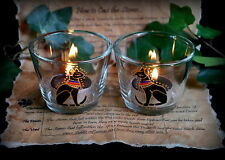 Egyptian Goddess *Bast* Bastet Glass Candle Holders Altar/Wicca/Pagan/Witch/Cat