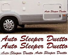 AUTO SLEEPER DUETTO 4 PIECE KIT DECALS STICKERS CHOICE OF COLOURS & SIZES