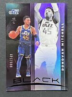 2019-20 Panini BLACK Basketball Donovan Mitchell 8/149 Utah Jazz No. 61