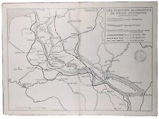 Position Hindenbourg 1918 Verdun Saint Mihiel Donon Allemagne Mohrange Metz