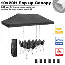 Commercial 10x20 ft Pop Up Canopy Tent Instant Folding Shelter Trade Show Vendor