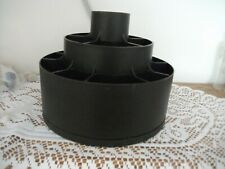Pampered Chef Turn-About Carousel Utensil Tool Caddy Holder - Black