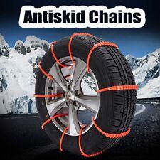 10pcs Réutilisable Hiver Antidérapant Chaînes à neige Pour Voiture SUV Truck HG