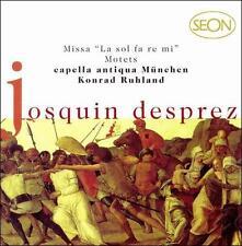 """JOSQUIN DESPREZ: MISSA """"LA SOL FA RE MI""""; MOTETS NEW CD"""