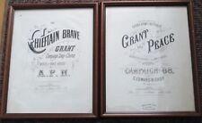 Civil War General Ulysses Grant original sheet music two different 1868