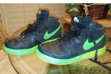 Nike Air Force 1 Lunar Black & Green (Neon) Men's Size 9.5 Used Comfy