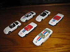 Rare LOT of 6 Vintage Maisto & Yatming 1980's Chevy Corvette ZR-1 sport cars