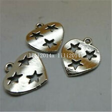 20pc Tibetan Silver stars heart Charm Beads Pendant accessories Findings PL559