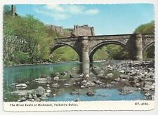 Bamforth & Co Postcard, ET.6196., The River Swale at Richmond, Yorkshire Dales