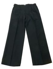 Haggar Mens Size 34X30 Dark Blue Wool Blend Pleated Dress Pants New No Tags