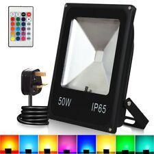 50W RGB LED Flood Lights,T-SUNRISE Colour Changing LED Security Light, 16 & 4 UK