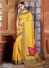 Cotton Silk Printed Bollywood Saree Party Wear Indian Pakistani  Sari 223S8502