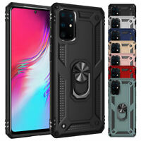 For Samsung Galaxy S20 Ultra S10 S9 S8 Plus Shockproof Ring Kickstand Case Cover