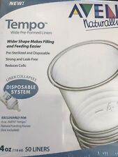 Philips Avent SCF137/05 Tempo 50 - 4 oz Wide Pre Formed Liners for Tempo Nurser