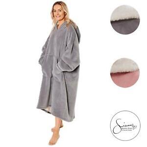 Sienna Extra Long Hoodie Blanket Oversized Soft Sherpa Fleece Giant Sweatshirt