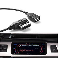 Music Interface Adaptor AMI Cable USB Device AUX Cord For Audi A3 A4 Q5 Q7 R8 TT