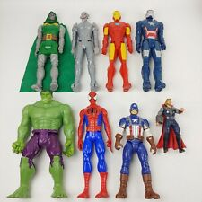 "Marvel Avengers Spider-Man HULK Titan Hero Series 12"" Action Figures Lot"