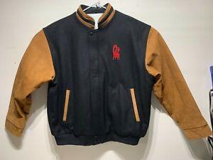 EZEM Monterey Jazz Festival Unisex Black/Brown Wool/Leather Jacket XL