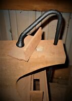 """3/4"""" PRITCHEL TOOL BLACKSMITH ANVIL TINSMITH FORGE VISE HOLDFAST CLAMPING OLD"""