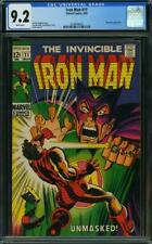 Iron Man #11 CGC 9.2 -- 1969 -- Mandarin cover. A+ centering #0336894003