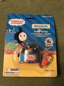 Rare Thomas The Tank Engine Train Friends Railway Keychain Moving mini Train MIP