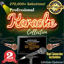 Karaoke Songs Hard Drive Collection - Lifetime Updates - 270,000+ Selections