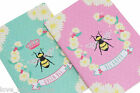 *queen Bee Happy Set of 2 A6 Lined Notebooks Notepad Stationery Pad Gift Bumble*