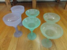SET OF 6 PLASTIC DRINK GLASSES DAIQUIRI POOLSIDE MARGARITA PATIO BAR PICNIC CAMP