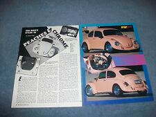 "1968 Volkswagen Bug Vintage RestoMod Article ""Peaches & Chrome"""