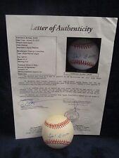 Hank Aaron Autographed Official Naitonal League (White) Baseball - Full JSA LOA