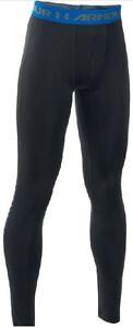 Boys under armour (YXL 14 yrs +) up leggings black royal blue pant bnwt