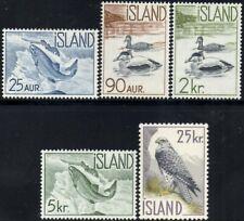 Iceland 1959-60  Wildlife  SG.368/372  Mint (MNH)