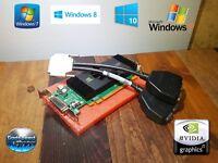 HP Compaq Elite 8100 8200 8300 SFF NVIDIA Quadro Quad 4 Display Port Video Card