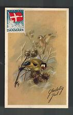 1946 Denmark Christmas Postcard cover to Holland Comp Set # 294-296