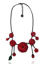 Collier coquelicot ♥ rouge intense ♥ coccinelle ♥ lol bijoux ♥ créateur ♥ Paris