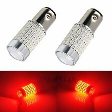 JDM ASTAR 2x 144 SMD 1157 BAY15D Red Super Bright Tail Stop Brake Light LED Bulb