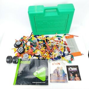 VTG 1996 KNEX Discovery Series & Thunder Raceway w/ Green Case/Pieces/Manuals