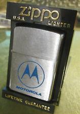 Vintage Very Rare 1996 MOTOROLA ZIPPO LIGHTER WITH BOX