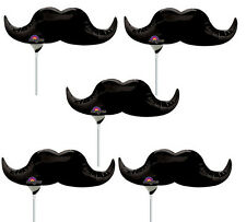 6 MUSTACHE LITTLE MAN BIRTHDAY PARTY MINI SHAPE BALLOONS DECORATIONS BABY SHOWER