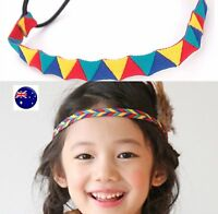 Women Girl colorful Rainbow BOHO Bohemia elastic Hair Retro Hair band Headband