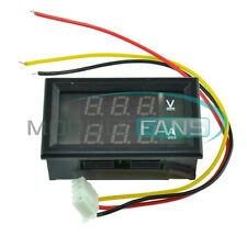 0-50A DC 4.5-30V Dual Red LED Digital Volt meter Ammeter Voltage Am meter M