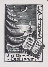 § EX-LIBRIS JEAN COLNAT PAR ALBERT HAEFELI (1909-1987) METZ (MOSELLE) §