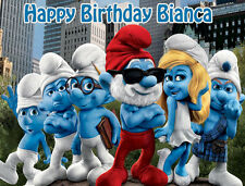 Smurfs Premium Frosting Sheet Cake Topper FREE Personalization