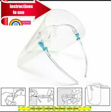 Full Face Shield Visor Glasses Transparent Protection Safety Clear Anti-fog new