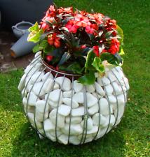 Gabion basket ball sphere 50cm flowerpot stone metal wire