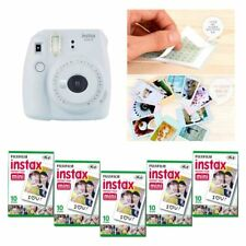 Fujifilm Instax Mini 9 cámara humo blanco 5 Packs Fuji Film 50 Foto 8