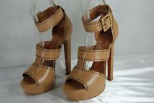 SUPER GORGEOUS!! ALAIA  LASER CUT CIRCLE HI HEEL NUDE  PUMPS SANDALS EU 40 US 10